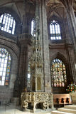 Αρτοφόριο σε Lorenzkirche στη Νυρεμβέργη Στοκ Φωτογραφίες