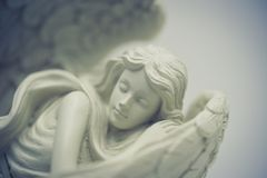Αρχάγγελος αγγέλου στη ρομαντική ονειροπόλο διάθεση όπως την έννοια αγάπης, ειρήνης και πεποίθησης στοκ εικόνα με δικαίωμα ελεύθερης χρήσης