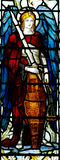 Αρχάγγελος Michael στο λεκιασμένο γυαλί Στοκ Φωτογραφίες
