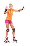 Αρχές Rollerblades. στοκ εικόνα με δικαίωμα ελεύθερης χρήσης