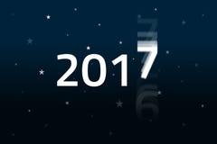 2017 αρχίζει - νυχτερινός ουρανός Στοκ Φωτογραφία