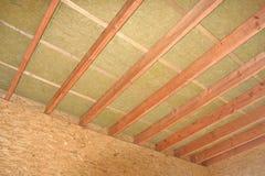 Αρχίστε το ξύλινο σπίτι κατασκευής Στοκ Εικόνες