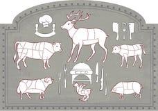 αρχίστε το τέμνον κρέας διανυσματική απεικόνιση