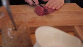 αρχίστε το τέμνον κρέας απόθεμα βίντεο