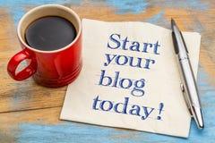 Αρχίστε το blog σας σήμερα στοκ φωτογραφία με δικαίωμα ελεύθερης χρήσης