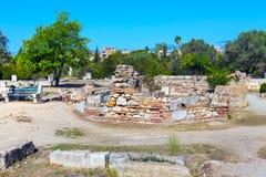Αρχαία άποψη αγορών μέσα, Αθήνα, Ελλάδα Στοκ εικόνα με δικαίωμα ελεύθερης χρήσης