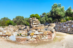 Αρχαία άποψη αγορών μέσα, Αθήνα, Ελλάδα Στοκ εικόνες με δικαίωμα ελεύθερης χρήσης