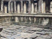 Αρχαία λίμνη μέσα σε Angkor Wat, Καμπότζη Στοκ Φωτογραφίες