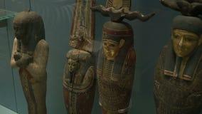 Αρχαία αγάλματα της Αιγύπτου απόθεμα βίντεο