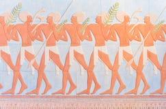 Αρχαία αιγυπτιακά έργα ζωγραφικής τοίχων πολεμιστών Στοκ φωτογραφία με δικαίωμα ελεύθερης χρήσης
