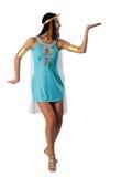 αρχαία αιγυπτιακή γυναίκα της Κλεοπάτρας Στοκ Εικόνες