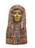 Αρχαία αιγυπτιακή μάσκα μουμιών που απομονώνεται. Στοκ Φωτογραφίες