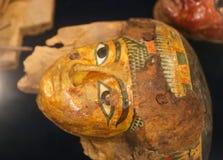 Αρχαία αιγυπτιακή μάσκα στο μουσείο Luxor στην Αίγυπτο Στοκ εικόνα με δικαίωμα ελεύθερης χρήσης