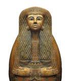 Αρχαία αιγυπτιακή Σαρκοφάγος που απομονώνεται. Στοκ Φωτογραφία