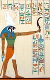 Αρχαία αιγυπτιακή φαραονική τέχνη Στοκ φωτογραφίες με δικαίωμα ελεύθερης χρήσης