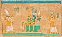 Αρχαία αιγυπτιακή φαραονική τέχνη Στοκ εικόνες με δικαίωμα ελεύθερης χρήσης