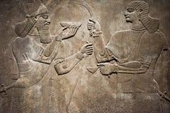 Αρχαία ανακούφιση Babylonia και Assyria bas στοκ φωτογραφία με δικαίωμα ελεύθερης χρήσης