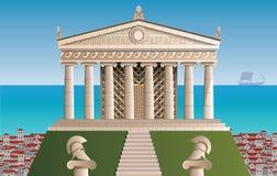 Αρχαία απεικόνιση της Αθήνας Στοκ Εικόνες