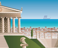Αρχαία απεικόνιση της Αθήνας Στοκ εικόνα με δικαίωμα ελεύθερης χρήσης