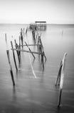 Αρχαία αποβάθρα αλιείας σε Carrasqueira Στοκ εικόνες με δικαίωμα ελεύθερης χρήσης