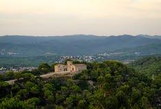 Αρχαία αρχιτεκτονική του θερέτρου Blanes Ιστορικό να στηριχτεί της αρχαιότητας στην κορυφή του λόφου Κόστα Μπράβα, Ισπανία στοκ φωτογραφίες με δικαίωμα ελεύθερης χρήσης
