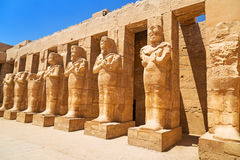 Αρχαία αρχιτεκτονική του ναού Karnak σε Luxor Στοκ εικόνα με δικαίωμα ελεύθερης χρήσης