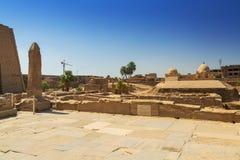 Αρχαία αρχιτεκτονική του ναού Karnak στην Αίγυπτο Στοκ εικόνα με δικαίωμα ελεύθερης χρήσης