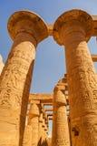 Αρχαία αρχιτεκτονική του ναού Karnak στην Αίγυπτο Στοκ Εικόνες