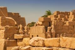 Αρχαία αρχιτεκτονική του ναού Karnak στην Αίγυπτο Στοκ φωτογραφίες με δικαίωμα ελεύθερης χρήσης