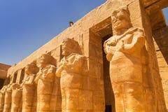 Αρχαία αρχιτεκτονική του ναού Karnak στην Αίγυπτο Στοκ εικόνες με δικαίωμα ελεύθερης χρήσης
