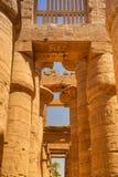 Αρχαία αρχιτεκτονική του ναού Karnak στην Αίγυπτο Στοκ Φωτογραφία