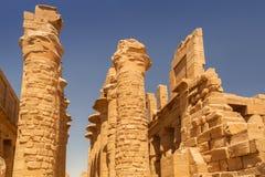 Αρχαία αρχιτεκτονική του ναού Karnak στην Αίγυπτο Στοκ Φωτογραφίες