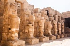 Αρχαία αρχιτεκτονική του ναού Karnak Στοκ Φωτογραφίες