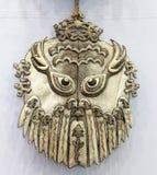 Αρχαία ασιατική χειρωνακτική shamanistic μάσκα, πλίθα rgb Στοκ εικόνα με δικαίωμα ελεύθερης χρήσης