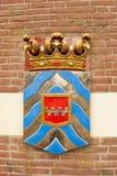 Αρχαία ασπίδα της πρώην περιοχής πόλντερ Στοκ φωτογραφίες με δικαίωμα ελεύθερης χρήσης