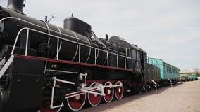 Αρχαία ατμομηχανή ατμού, μουσείο σιδηροδρόμων Kharkov στην Ουκρανία απόθεμα βίντεο