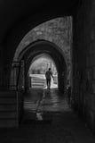Αρχαία αλέα στο εβραϊκό τέταρτο Ισραήλ Ιερουσαλήμ Στοκ φωτογραφία με δικαίωμα ελεύθερης χρήσης