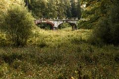 Αρχαία γέφυρα τούβλου Στοκ Εικόνες