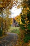 αρχαία εκκλησία αγροτική Στοκ Εικόνα
