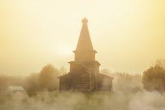 Αρχαία εκκλησία της υπόθεσης Μουσείο της ξύλινης αρχιτεκτονικής Vitoslavitsy Στοκ Εικόνες