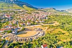 Αρχαία εναέρια άποψη αμφιθεάτρων Salona ή Solin στοκ φωτογραφίες