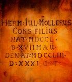 Αρχαία επιγραφή στα λατινικά στοκ φωτογραφία με δικαίωμα ελεύθερης χρήσης