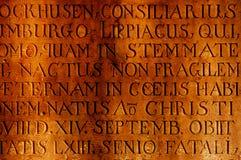 Αρχαία επιγραφή στην πέτρα Στοκ Φωτογραφίες
