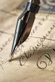 αρχαία επιστολή Στοκ εικόνα με δικαίωμα ελεύθερης χρήσης