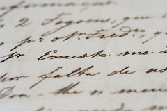 αρχαία επιστολή Στοκ Εικόνα