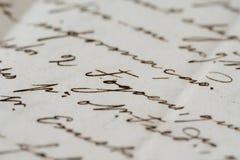 αρχαία επιστολή Στοκ Φωτογραφία
