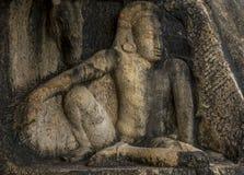 Αρχαία εργασία τέχνης βράχου στη Σρι Λάνκα Στοκ Φωτογραφίες