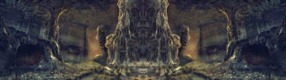 Αρχαία ζωγραφική απεικόνισης κρησφύγετων αραχνών Στοκ Φωτογραφίες