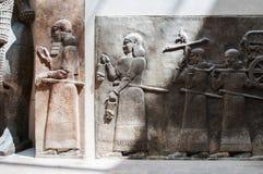 Αρχαία ζωγραφική γλυπτών Babylonia και Assyria από Mesopotami στοκ εικόνες
