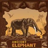 Αρχαία διανυσματική έννοια απεικόνισης ελεφάντων Στοκ φωτογραφία με δικαίωμα ελεύθερης χρήσης